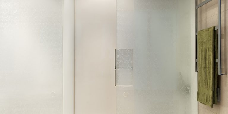 DecorDesign. Shower screen in Staccato pattern