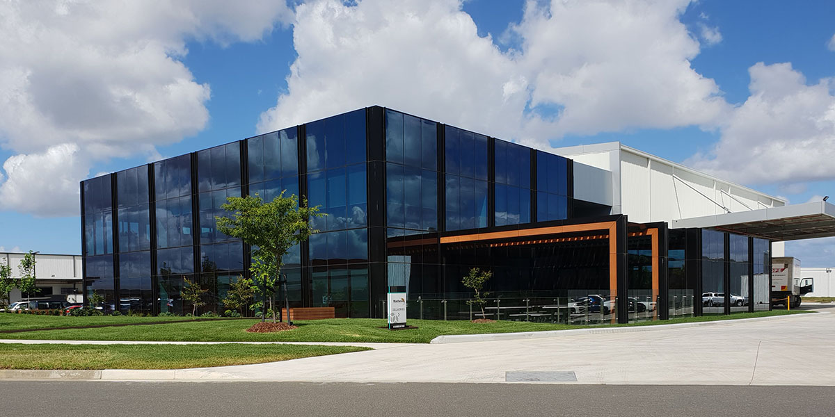 LoE 340 low e glass.. Commercial office build in Victoria s south 3qrtr
