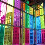 Colour laminated glass